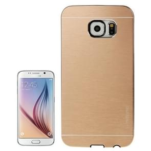 For Samsung Galaxy S6 / G920 Brushed Texture Protective Case (Gold)