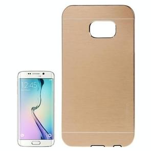 For Samsung Galaxy S6 edge Brushed Texture Protective Case (Gold)