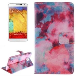 Abstract Iridescent Pattern Horizontal Flip Leather Case with Holder & Card Slots & Wallet for Samsung Galaxy Note III / N9000