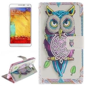 Owl Pattern Horizontal Flip Leather Case with Holder & Card Slots & Wallet for Samsung Galaxy Note III / N9000