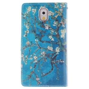 Flower Pattern Horizontal Flip Leather Case with Holder & Card Slots & Wallet for Samsung Galaxy Note III / N9000