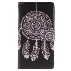 Abstract Windbell Pattern Horizontal Flip Leather Case with Holder & Card Slots & Wallet for Samsung Galaxy Note III / N9000