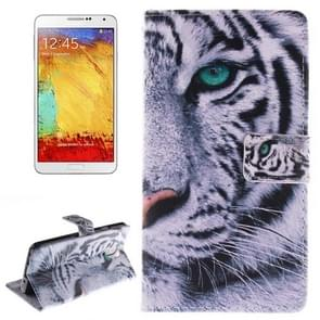 Tiger Pattern Horizontal Flip Leather Case with Holder & Card Slots & Wallet for Samsung Galaxy Note III / N9000