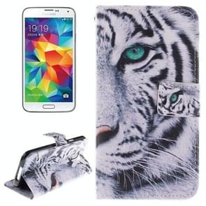 Tiger Pattern Horizontal Flip Leather Case with Holder & Card Slots & Wallet for Samsung Galaxy S5 / G900