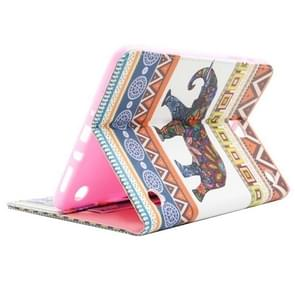 National Style Elephant Pattern Horizontal Flip Leather Case with Holder & Card Slots & Wallet for Samsung Galaxy Tab A 8.0 / T350
