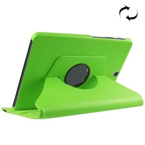Litchi Texture Horizontal Flip Solid Color Leather Case with 360 Degrees Rotation Holder for Samsung Galaxy Tab S2 9.7 / T815(Green)