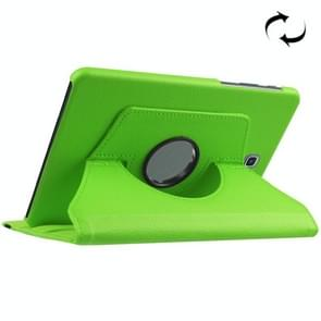 For Samsung Galaxy Tab S2 8.0 / T710 / T715 Litchi Texture Horizontal Flip Solid Color Leather Case with 360 Degrees Rotation Holder(Green)