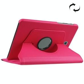 For Samsung Galaxy Tab S2 8.0 / T710 / T715 Litchi Texture Horizontal Flip Solid Color Leather Case with 360 Degrees Rotation Holder(Magenta)