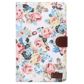 Flower Pattern Cloth Surface Horizontal Flip Leather Case with Wallet & Card Slots & Holder for Samsung Galaxy Tab E 9.6 / T560(White)