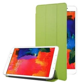 Frosted Texture Flip Leather + Transparent Trosted Plastic Case with Holder for Samsung Galaxy Tab Pro 8.4 / T320(Green)