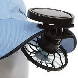 Mini Clip-on Solar Power Cell Travel Cooling Cool Fan(Black)