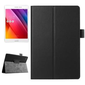 Litchi Texture Horizontal Flip Solid Color Smart Leather Case with Holder & Sleep / Wake-up Function for ASUS ZenPad S 8.0 / Z580C(Black)