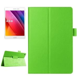 Litchi Texture Horizontal Flip Solid Color Smart Leather Case with Holder & Sleep / Wake-up Function for ASUS ZenPad S 8.0 / Z580C(Green)