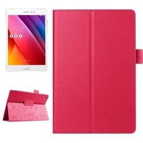 Litchi Texture Horizontal Flip Solid Color Smart Leather Case with Holder & Sleep / Wake-up Function for ASUS ZenPad S 8.0 / Z580C(Magenta)