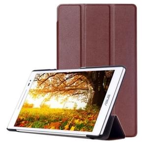 Custer Texture Horizontal Flip Leather Case with 3-folding Holder for ASUS ZenPad 8.0 Z380C(Brown)