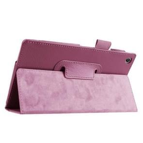 Litchi Texture Horizontal Flip Leather Case with Holder for Asus ZenPad 7.0 Z370CG(Purple)
