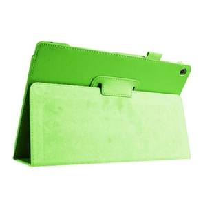 Litchi Texture Horizontal Flip Leather Case with Holder for Asus ZenPad 10 Z300C(Green)