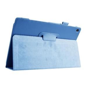 Litchi Texture Horizontal Flip Leather Case with Holder for Asus ZenPad 10 Z300C(Blue)