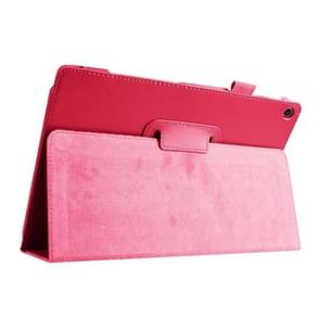 Litchi Texture Horizontal Flip Leather Case with Holder for Asus ZenPad 10 Z300C(Magenta)