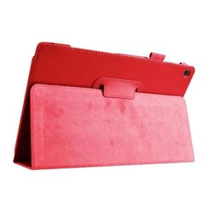 Litchi Texture Horizontal Flip Leather Case with Holder for Asus ZenPad 10 Z300C(Red)