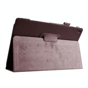 Litchi Texture Horizontal Flip Leather Case with Holder for Asus ZenPad 10 Z300C(Brown)