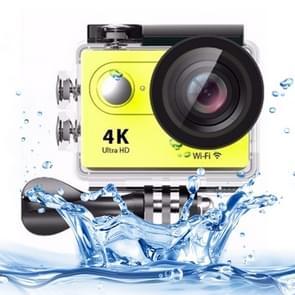 H9 4K Ultra HD1080P 12MP 2 inch LCD Screen WiFi Sports Camera, 170 Degrees Wide Angle Lens, 30m Waterproof(Yellow)