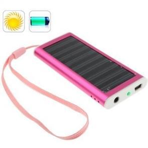 1350mAh Solar Charger for Mobile phone, Digital camera, PDA, MP3/MP4 Player (Magenta)