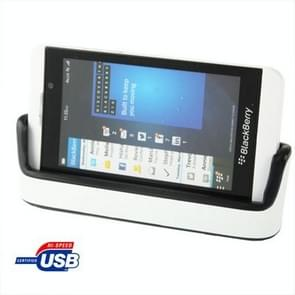 2 in 1 Desktop Charging Cradle with Battery Slot for Blackberry Z10(White)