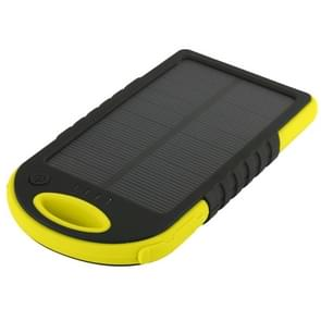 5000mAh Waterproof / Shockproof / Dropproof Emergency Power Solar Charger for iPhone / Samsung Galaxy / Sony / HTC / LG(Yellow)