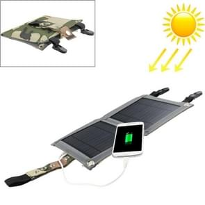 5W Portable Folding Solar Panel / Solar Charger Bag with Clips for Laptops / Mobile Phones