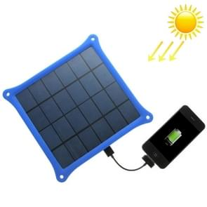 A4W 4.2W 5.0V/ 0.8A Solar Panel Charger(Blue)