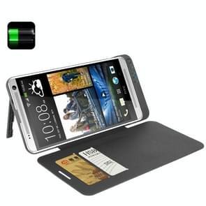 4200mAh draagbare Power Bank / externe batterij met Flip lederen hoesje voor HTC One Max / T6 / 809d(zwart)