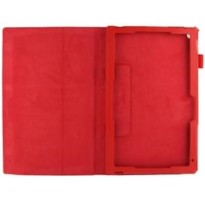Litchi Texture Leather Case with Holder for Sony Xperia Tablet Z2 10.1(Red)