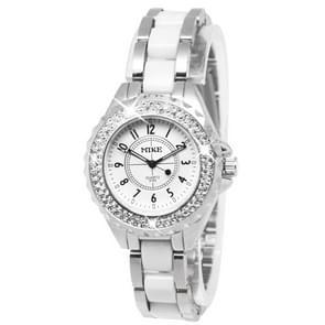 White Dial Women Diamond Quartz Stainless Steel Watch / Couple Watch