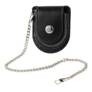 Retro Pocket Watch Holster / lederen Pouch / Belt Bag met Chain