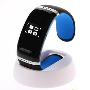 L12S OLED Bluetooth Wrist V3.0 Smart Touch Bracelet Watch for IOS iPhone / Android Samsung / HTC, with Music Player / Handfree / Pedometer(Blue)