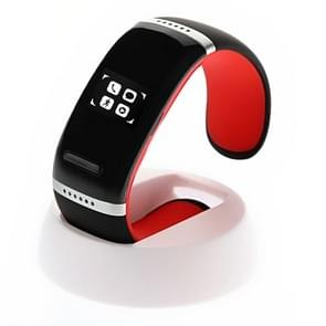 L12S OLED Bluetooth Wrist V3.0 Smart Touch Bracelet Watch for IOS iPhone / Android Samsung / HTC, with Music Player / Handfree / Pedometer(Red)