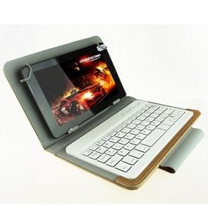 Universal Bluetooth Keyboard with Leather Case & Holder for Ainol / PiPO / Ramos 9.7 inch / 10.1 inch Tablet PC(Gold)