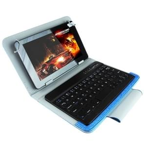 Universal Bluetooth Keyboard with Leather Case & Holder for Ainol / PiPO / Ramos 9.7 inch / 10.1 inch Tablet PC(Blue)