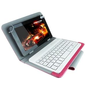 Universal Bluetooth Keyboard with Leather Case & Holder for Ainol / PiPO / Ramos 9.7 inch / 10.1 inch Tablet PC(Magenta)
