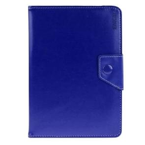 Universal Crazy Horse Texture Horizontal Flip Leather Case with Holder for 8 inch Tablet PC(Dark Blue)