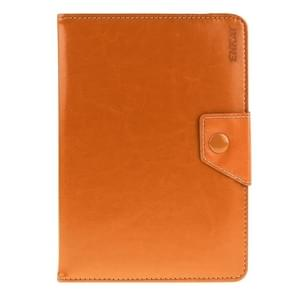 Universal Crazy Horse Texture Horizontal Flip Leather Case with Holder for 8 inch Tablet PC(Orange)