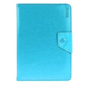 Universal Crazy Horse Texture Horizontal Flip Leather Case with Holder for 8 inch Tablet PC(Blue)
