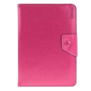 Universal Crazy Horse Texture Horizontal Flip Leather Case with Holder for 8 inch Tablet PC(Magenta)