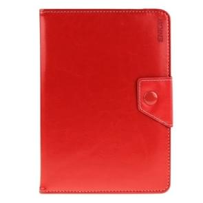 Universal Crazy Horse Texture Horizontal Flip Leather Case with Holder for 8 inch Tablet PC(Red)
