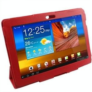 Leather Case with Holder for Samsung Galaxy Tab P5100(Red)
