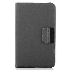 360 Degree Rotatable Denim Texture Leather Case with Credit Card Slots & Holder for Samsung Galaxy Tab 4 8.0 / T330(Grey)