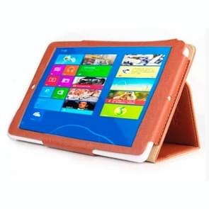 Bark Texture Leather Case with Holder for Teclast X80HD / X80 Plus (S-WMC-1222/S-WMC-2342)(Brown)