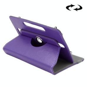 ENKAY 9 inch Tablets Leather Case Crazy Horse Texture 360 Degrees Rotation Protective Case Shell with Holder for ONDA V891w, Ramos i9s Pro & Win8, Colorfly i898W & i898A(Purple)