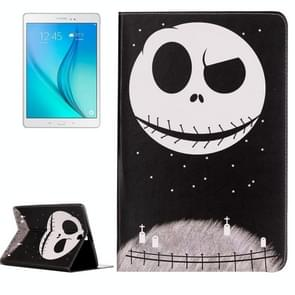 For Samsung Galaxy Tab A 9.7 / T550 Embossment Ghost Star Pattern Horizontal Flip Leather Case with Holder